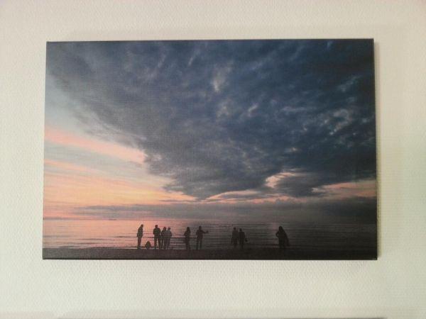 Sonnenuntergang - Leinwand Ausstellungsstück